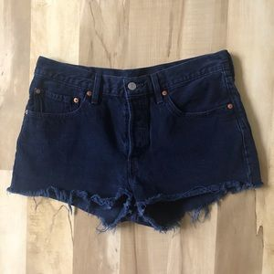 "Levi's Cutoff Jean Shorts Women's Size 30"" 501"